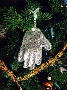 Hand print Salt dough ornament