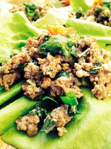 Lamb Lettuce Wraps With Mint Chimichurri Sauce
