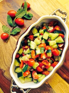 Persian Cucumber and Tomato Salad
