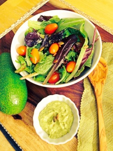 Creamy Avocado Pumpkin Seed Salad Dressing