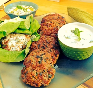 Lamb Burgers With Yogurt Cucumber Sauce