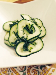 Lemon and basil Cucumber Salad