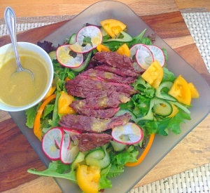 Grilled Steak Salad With Spicy Mustard Vinaigrette
