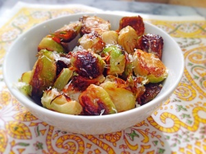 Roasted Brussels Sprouts With Parmesan, Lemon, and Red Pepper Flakes