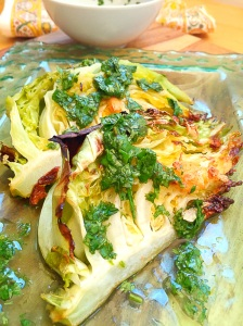 Roasted Cabbage Wedges with Cider Herb Vinaigrette