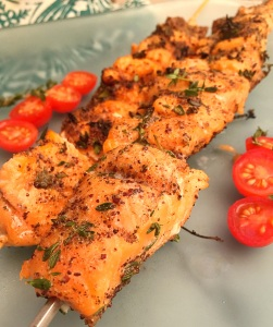 Persian Spiced Salmon Kabob's