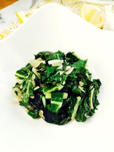 Sauteed Chard with Lemon, Garlic and Shallots