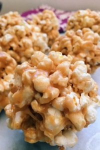 Popcorn Balls with Peanut butter and Marshmallows