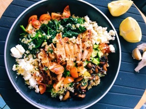 Greek Grilled Chicken Bowls
