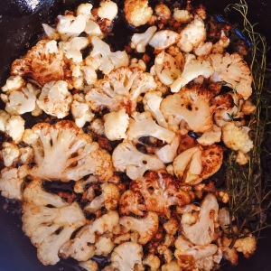 Pan Fried Cauliflower with Garlic and Thyme